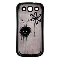 Evil Flower Bug Vintage Samsung Galaxy S3 Back Case (black) by CreaturesStore