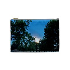 Coming Sunset Accented Edges Cosmetic Bag (medium) by Majesticmountain