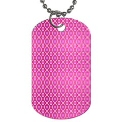 Pink Kaleidoscope Dog Tag (two Sided)