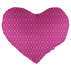 Pink Kaleidoscope 19  Premium Heart Shape Cushion by Khoncepts