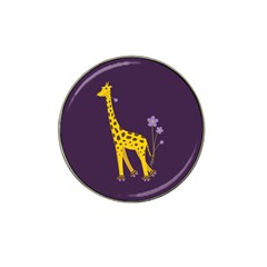 Purple Roller Skating Cute Cartoon Giraffe Golf Ball Marker 10 Pack (for Hat Clip) by CreaturesStore