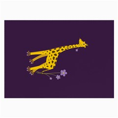 Purple Roller Skating Cute Cartoon Giraffe Glasses Cloth (large) by CreaturesStore
