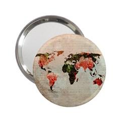 Vintageworldmap1200 Handbag Mirror (2 25 ) by mjdesigns