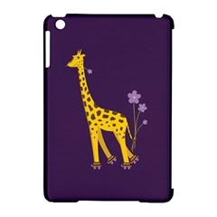 Purple Cute Cartoon Giraffe Apple Ipad Mini Hardshell Case (compatible With Smart Cover) by CreaturesStore