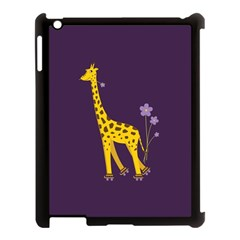 Purple Cute Cartoon Giraffe Apple Ipad 3/4 Case (black) by CreaturesStore