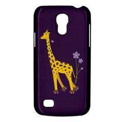 Purple Cute Cartoon Giraffe Samsung Galaxy S4 Mini (gt I9190) Hardshell Case  by CreaturesStore