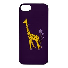 Purple Cute Cartoon Giraffe Apple iPhone 5S Hardshell Case