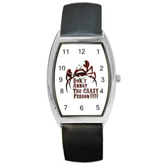 Crazy Person Tonneau Leather Watch by ukbanter