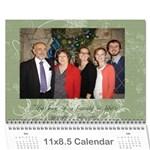 Christmas 2014 - Wall Calendar 11  x 8.5  (12-Months)