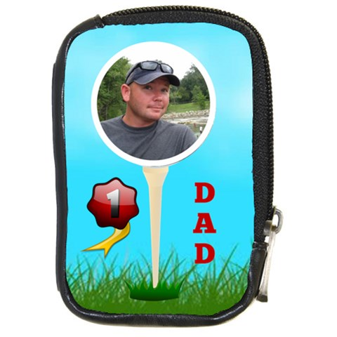 Golf Dad Compact Camera Case By Joy Johns   Compact Camera Leather Case   1a30jdjnf6zo   Www Artscow Com Front