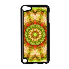 Red Green Apples Mandala Apple iPod Touch 5 Case (Black) by Zandiepants