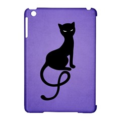 Purple Gracious Evil Black Cat Apple Ipad Mini Hardshell Case (compatible With Smart Cover) by CreaturesStore