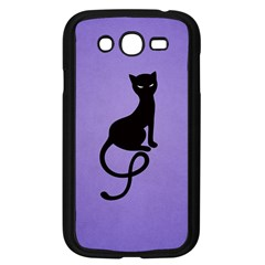 Purple Gracious Evil Black Cat Samsung Galaxy Grand Duos I9082 Case (black) by CreaturesStore