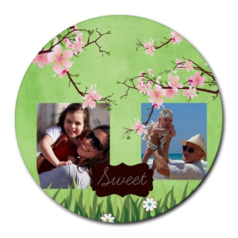 Family By Family   Round Mousepad   Gjobmof1vt0y   Www Artscow Com Front