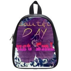Beautiful Day Just Smile School Bag (small) by SharoleneCollection