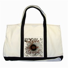 Live Love Laugh Two Toned Tote Bag by SharoleneCollection