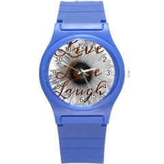 Live Love Laugh Plastic Sport Watch (small) by SharoleneCollection