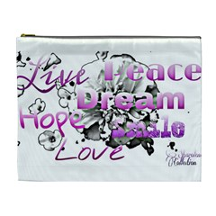 Live Peace Dream Hope Smile Love Cosmetic Bag (xl) by SharoleneCollection