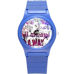 What s Meant To Be Will Always Find A Way Plastic Sport Watch (small)