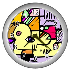Fighting The Fog Wall Clock (silver) by FunWithFibro