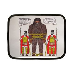 Big Foot & Romans Netbook Sleeve (small) by creationtruth