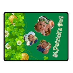 St Patrick s Day By Divad Brown   Double Sided Fleece Blanket (small)   6j8hlvo3wyk4   Www Artscow Com 50 x40 Blanket Back