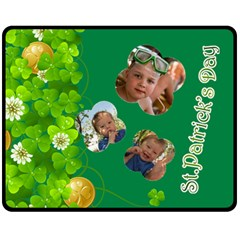 St Patrick s Day By Divad Brown   Double Sided Fleece Blanket (medium)   H1mxh2lnimyk   Www Artscow Com 60 x50 Blanket Back