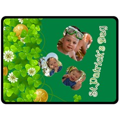St Patrick s Day By Divad Brown   Double Sided Fleece Blanket (large)   924rpx2o5co8   Www Artscow Com 80 x60 Blanket Front