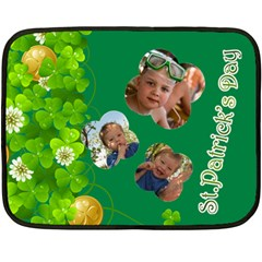St Patrick s Day By Divad Brown   Double Sided Fleece Blanket (mini)   Nt0w577xrf3w   Www Artscow Com 35 x27 Blanket Back