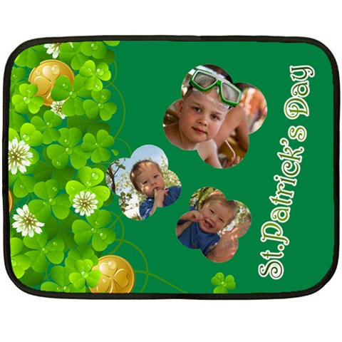 St Patrick s Day By Divad Brown   Fleece Blanket (mini)   399udovth3ok   Www Artscow Com 35 x27 Blanket