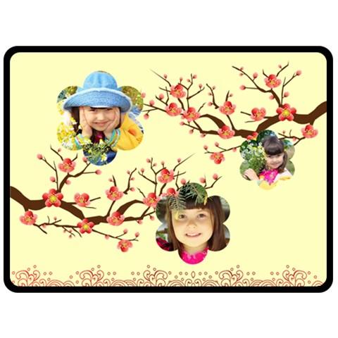 Flower By Divad Brown   Fleece Blanket (large)   Phj2xek0e6dh   Www Artscow Com 80 x60 Blanket Front