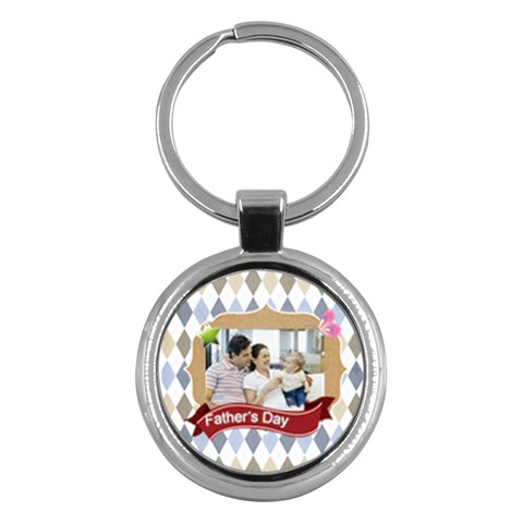 Fathers Day By Dad   Key Chain (round)   M0d06qyi5c97   Www Artscow Com Front