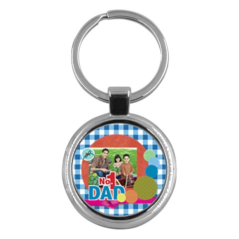 Fathers Day By Dad   Key Chain (round)   6x3ad7x9gfrg   Www Artscow Com Front