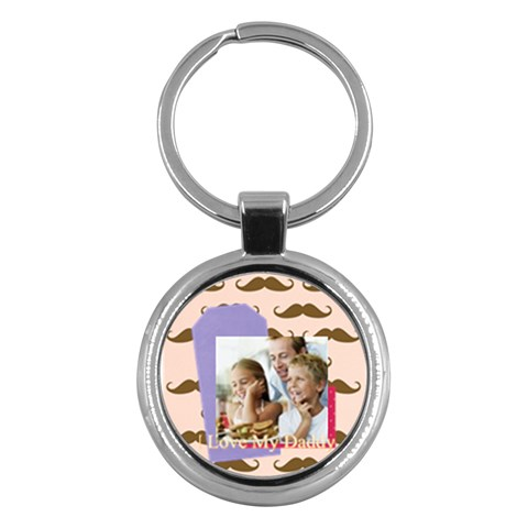 Fathers Day By Dad   Key Chain (round)   K555tqjnbqv1   Www Artscow Com Front