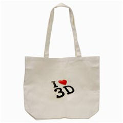 I Love 3d By Divad Brown   Tote Bag (cream)   P9t4spokg2qf   Www Artscow Com Front
