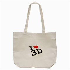 I Love 3d By Divad Brown   Tote Bag (cream)   P9t4spokg2qf   Www Artscow Com Back