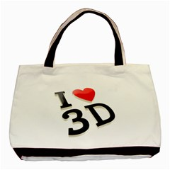 I Love 3d By Divad Brown   Basic Tote Bag (two Sides)   I3a1h1y2t6a6   Www Artscow Com Back