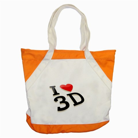 I Love 3d By Divad Brown   Accent Tote Bag   J83fdn3gg29r   Www Artscow Com Front
