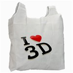 I love 3D - Recycle Bag (Two Side)