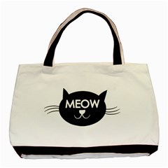 Meow Cat By Divad Brown   Basic Tote Bag (two Sides)   Ac5kfqd8snd4   Www Artscow Com Front