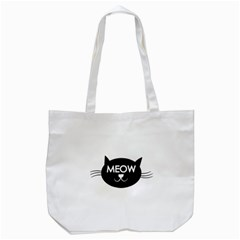 Meow Cat By Divad Brown   Tote Bag (white)   Xf9itkhmrmgp   Www Artscow Com Front
