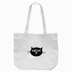 Meow Cat By Divad Brown   Tote Bag (white)   Xf9itkhmrmgp   Www Artscow Com Back