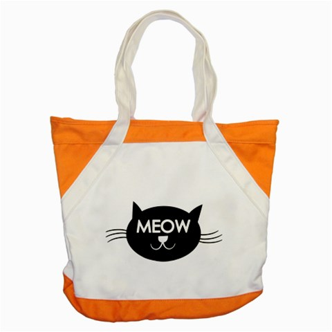 Meow Cat By Divad Brown   Accent Tote Bag   Nksyzakgf3sm   Www Artscow Com Front