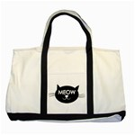 Meow cat - Two Tone Tote Bag