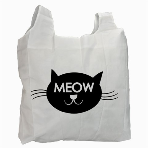 Meow Cat By Divad Brown   Recycle Bag (one Side)   Ojrfu8of4w2e   Www Artscow Com Front
