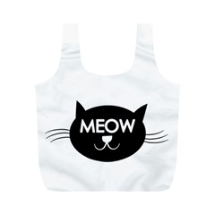 Meow Cat By Divad Brown   Full Print Recycle Bag (m)   Ak7cbdg3ums9   Www Artscow Com Back