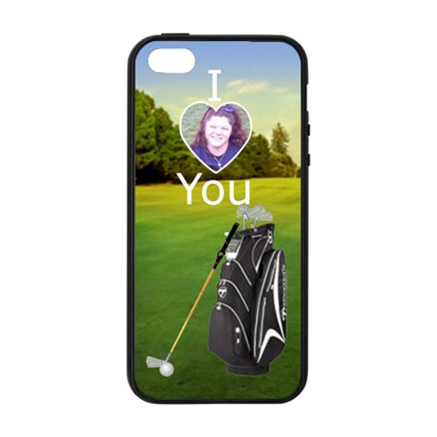 I Love You Golf Iphone 5/5s Soft Edge Hardshell Case By Kim Blair   Apple Iphone 5/5s Soft Edge Hardshell Case    2pee462kdgy3   Www Artscow Com Front