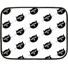 Meow Cat By Divad Brown   Double Sided Fleece Blanket (mini)   45t0h0kg3jd6   Www Artscow Com 35 x27 Blanket Front