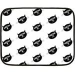meow cat - Double Sided Fleece Blanket (Mini)