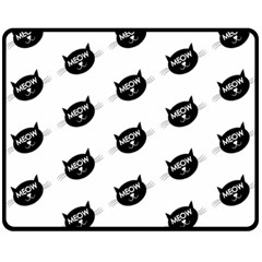 Meow Cat By Divad Brown   Double Sided Fleece Blanket (medium)   Lrkhakdg2bj6   Www Artscow Com 60 x50 Blanket Front